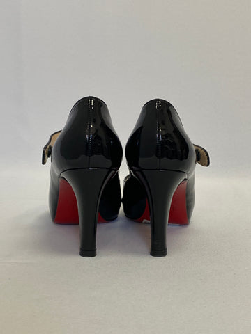 Christian Louboutin Black Patent Leather Mary Jane