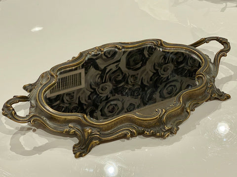 Antique:  Mirrored Perfume Tray