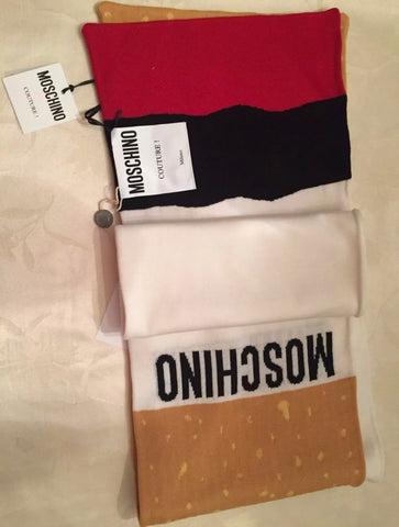 MOSCHINO Cigarette Wool Scarf