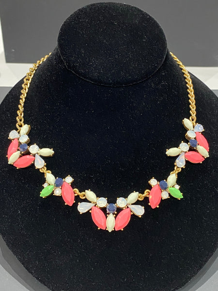 J.Crew Matte Neon stone Necklace
