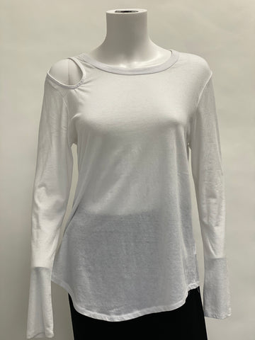 Chaser Long Sleeved Cold Shoulder Top