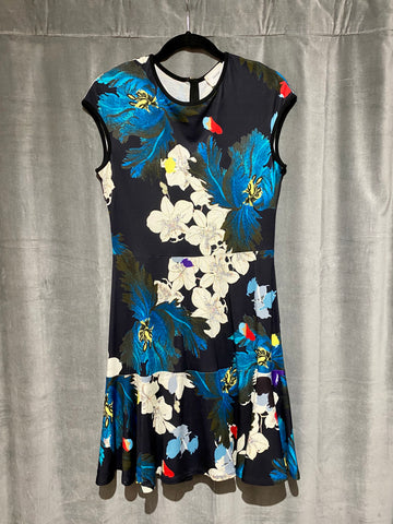 Erdem Sleeveless Fit and Flare Cotton Floral Print Dress