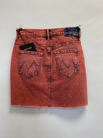 MOTHER Salmon Denim Mini Skirt