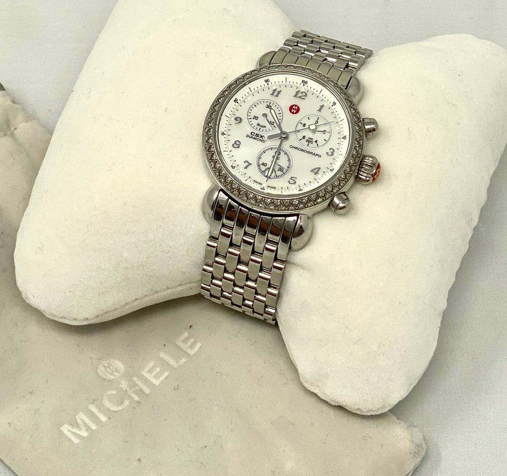 Michele CSX Diamond Bezel Ladies Watch