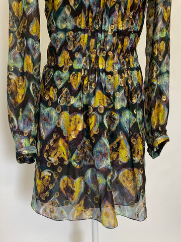 Robertio Cavalli Printed Silk Mini Dress