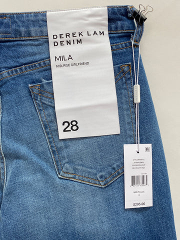 Derek Lam: Mid Rise Girlfriend Jean