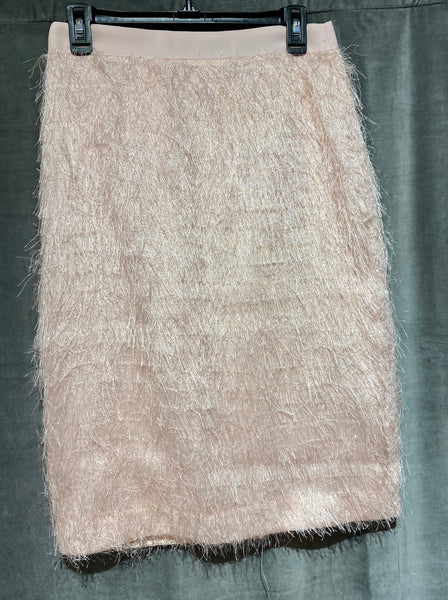 Banana Republic Pale Pink Furry Midi length skirt