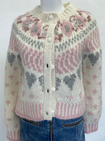 Love Shack Fancy Rose Button Cardigan