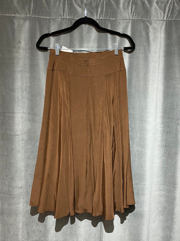 Marc by Marc Jacobs Brown Silk Skirt Full Bottom