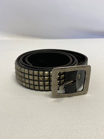 Silver and Black Studded Belt
