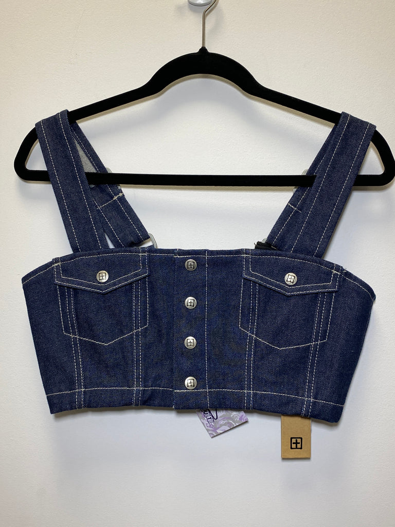 Kasubi Denim Crop Top