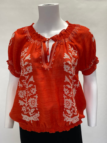 Joie Cotton Embroidered Top