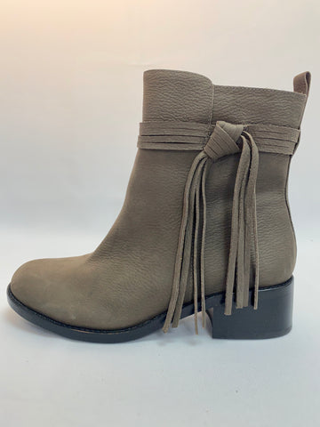 Vince Camuto Bootie With Side Suede Fringe
