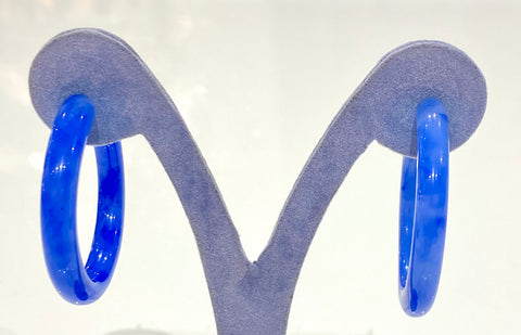 Cult Gaia Earrings Mira Cobalt Acrylic