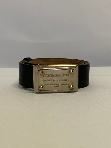 Dolce and Gabbana Black Leather Belt