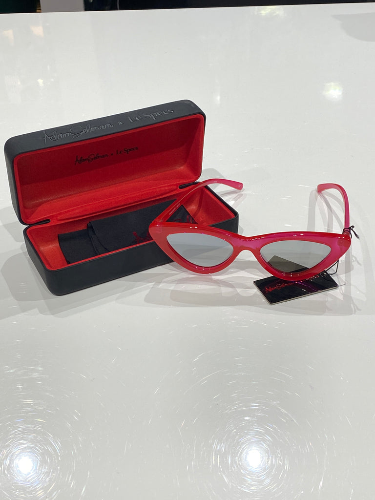 Adam Selman  x Le Specs Red Sunglasses