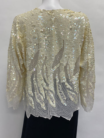 Vintage: Sequin and Sheer Beaded Blouse