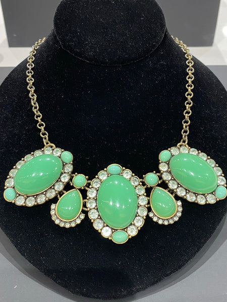 J.Crew Sea Foam/Faux Jade Necklace