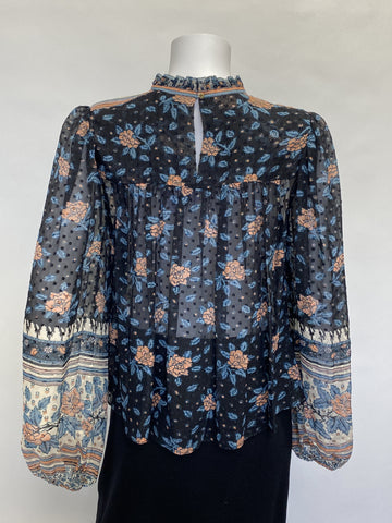Ulla Johnson Cass Floral Blouse
