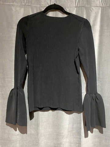 Elizabeth and James Black Willow Belle Sleeve Ribbed Top