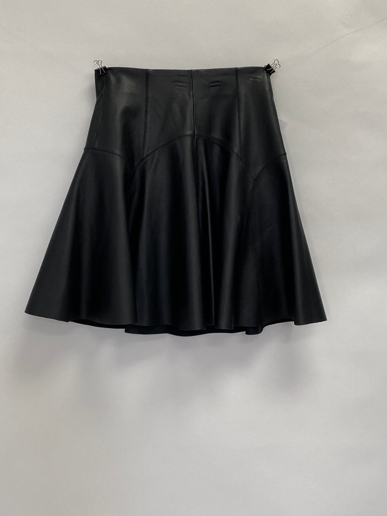 Sprotmax Code Leather Short Flare Skirt
