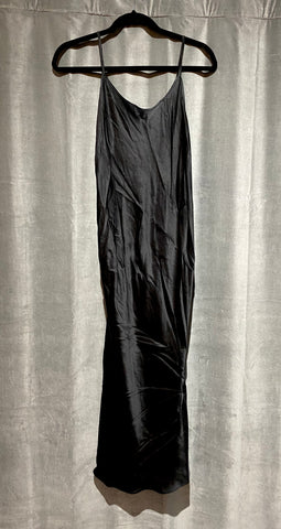 Amanda Uprichard Silk Black Slip Dress
