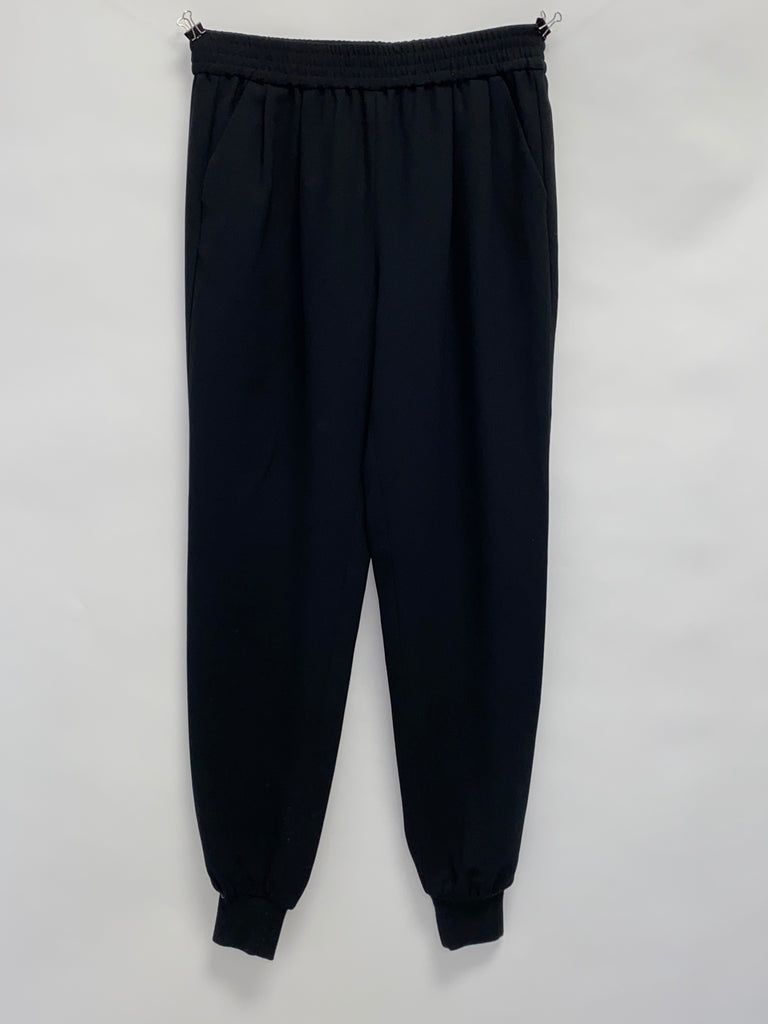 Joie Black Elastic Waist Pants with Knit Cuffs