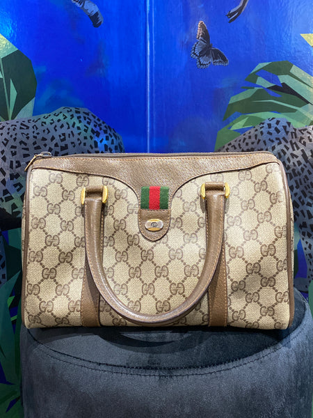 Vintage: Gucci Canvas Monogram Boston Bag