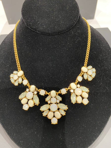 J.Crew Opal and Gold Necklace