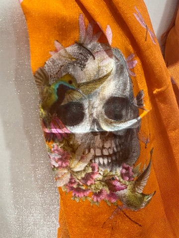 Alexander McQueen Skull and Floral Shawl