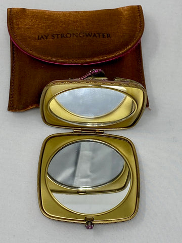 Jay Strongwater Lizard Double Compact Mirror