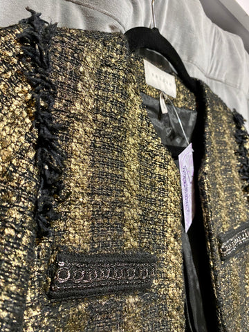 Sandro Gold Tweed Jacket