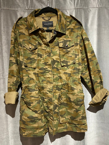 Banana Republic Camouflage Collared Button UP Jacket