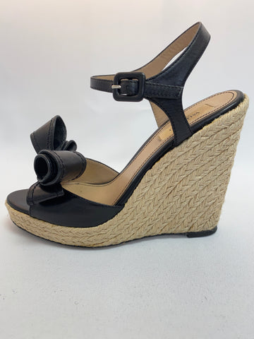Valentino Bow Accented Wedge Espadrilles