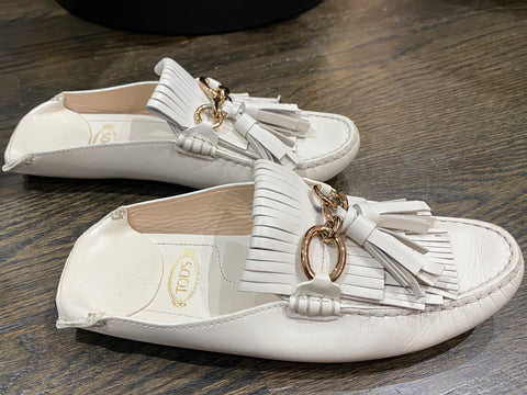 TOD'S Embellished Leather Slipper