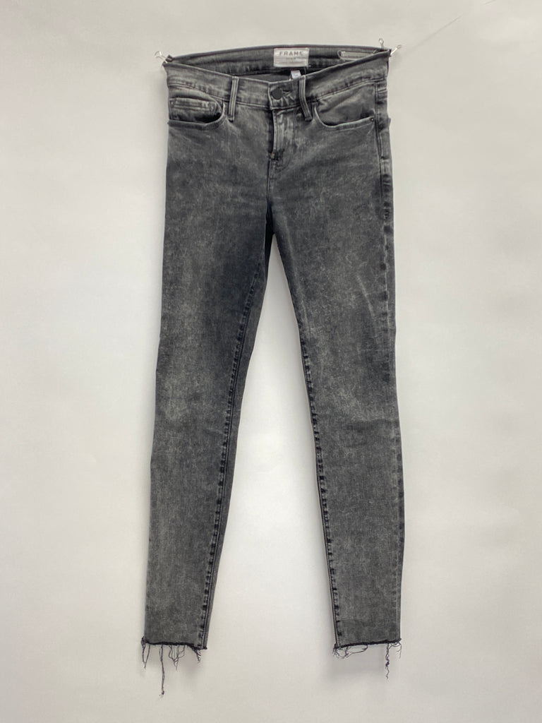 Frame Grey Acid Wash Jeans