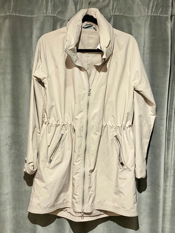 Athleta Beige Cinched Waist Rain Jacket