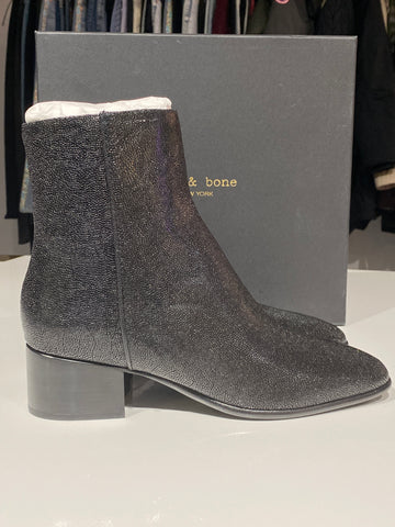 Rag and Bone Black Aslen Mid Boot