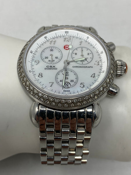 Michele Watch with Round Face and Diamonds