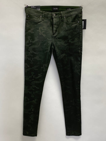 Joe's Jeans Mid Rise Skinny Ankle Coated Camo Print