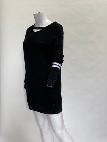 Philanthropy: Black Sweatshirt Dress
