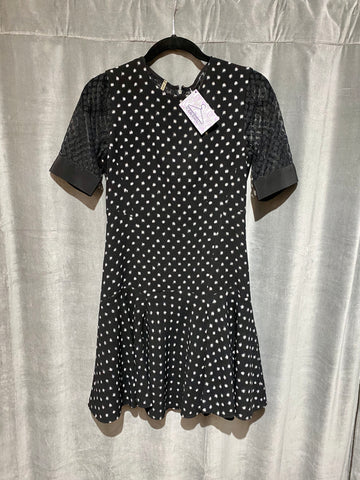 Rebecca Taylor Short Sleeve Dropped Waist Flare Dress