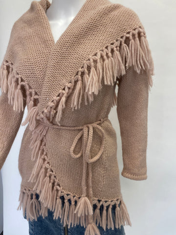 Love Shack Fancy Pink Tassel Shawl