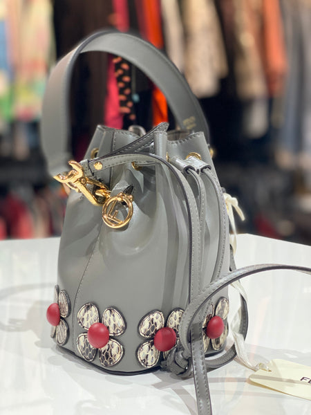 Fendi Mini Mon Tresor Flower Bucket Bag