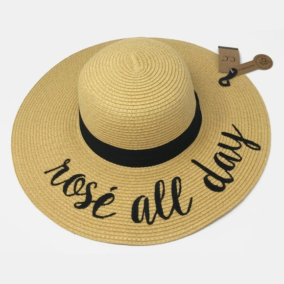Rose All Day Straw Sun Hat