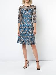Prabal Gurung fit and Flare lace Dress