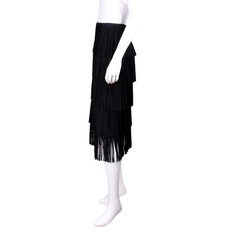 Tom Ford Black Fringe Skirt