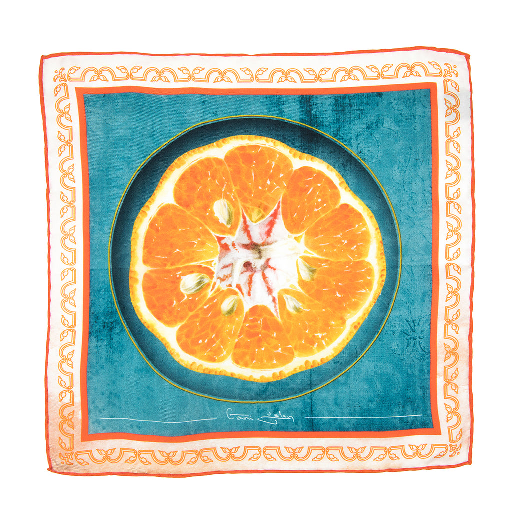 mandarin silk pocket bags towel