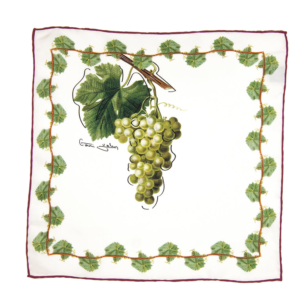 Grape silk And Vine Silk Pocket Handkerchief