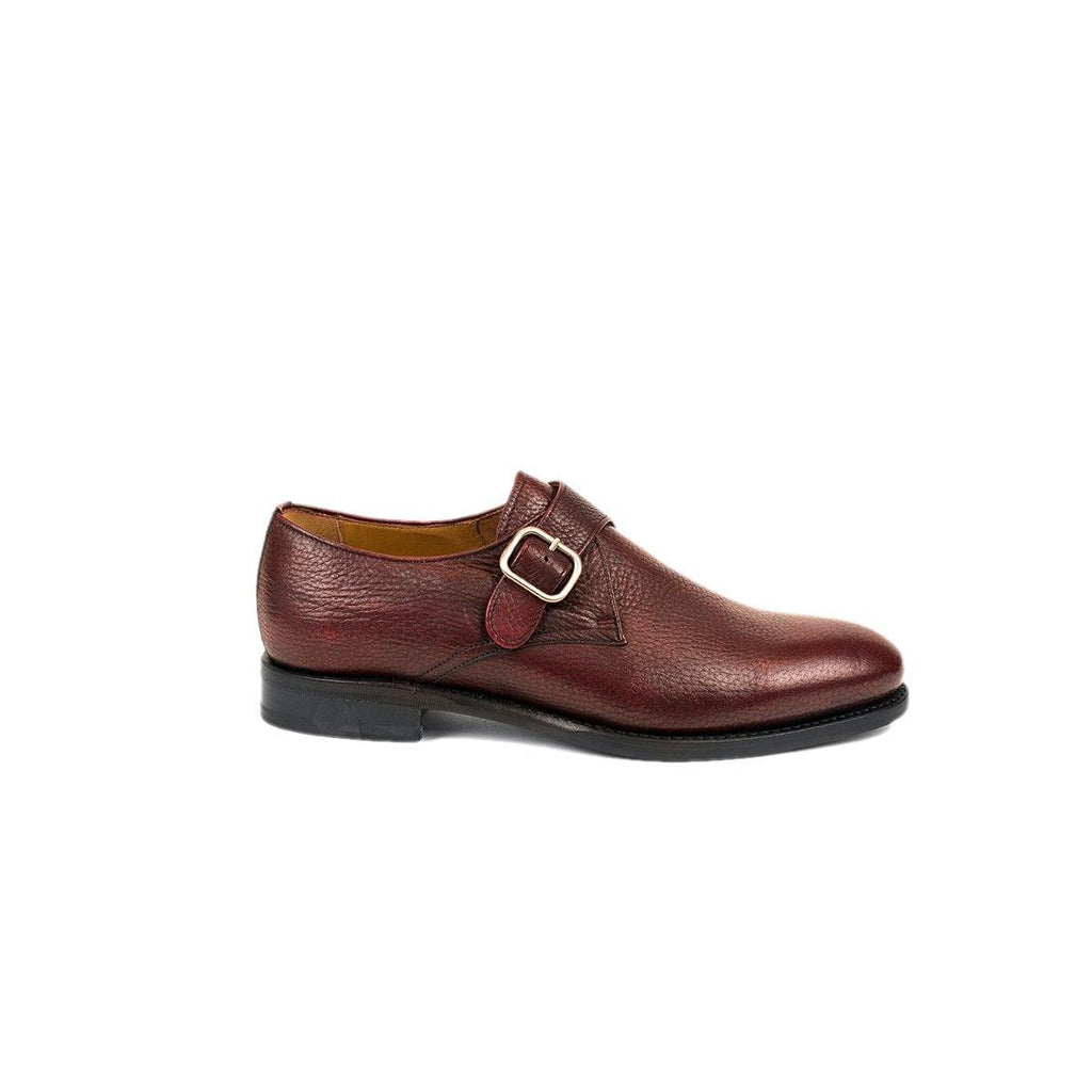 Berwick Bordeaux Single Buckle Skeleton Shoes